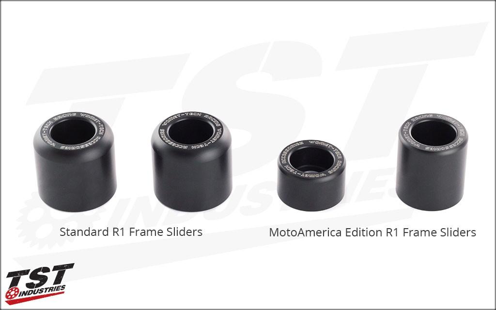 MotoAmerica Womet-Tech Frame Sliders | Yamaha 2015+ R1