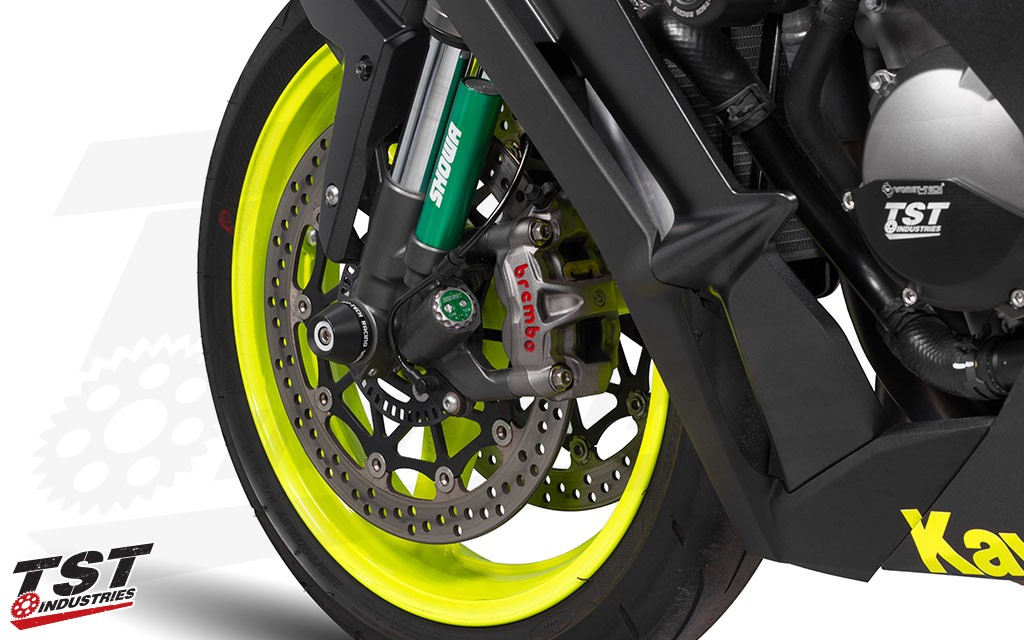 Womet-Tech Frame Sliders for the 2008+ Kawasaki ZX-10R.