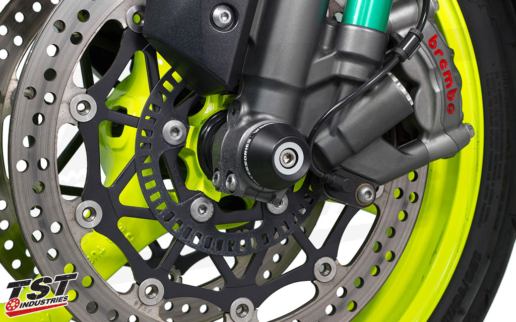 Protect your Kawasaki ZX-10R with Womet-Tech Fork Sliders.