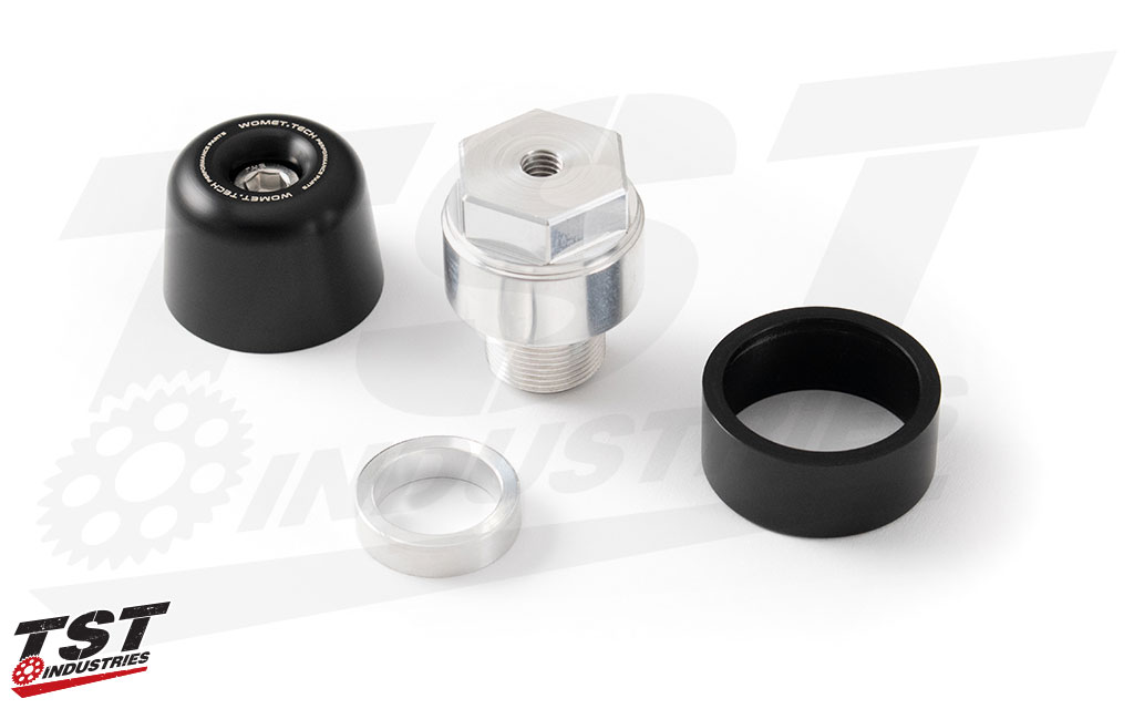 Throttle side bar end includes a washer that must be installed for proper throttle operation.