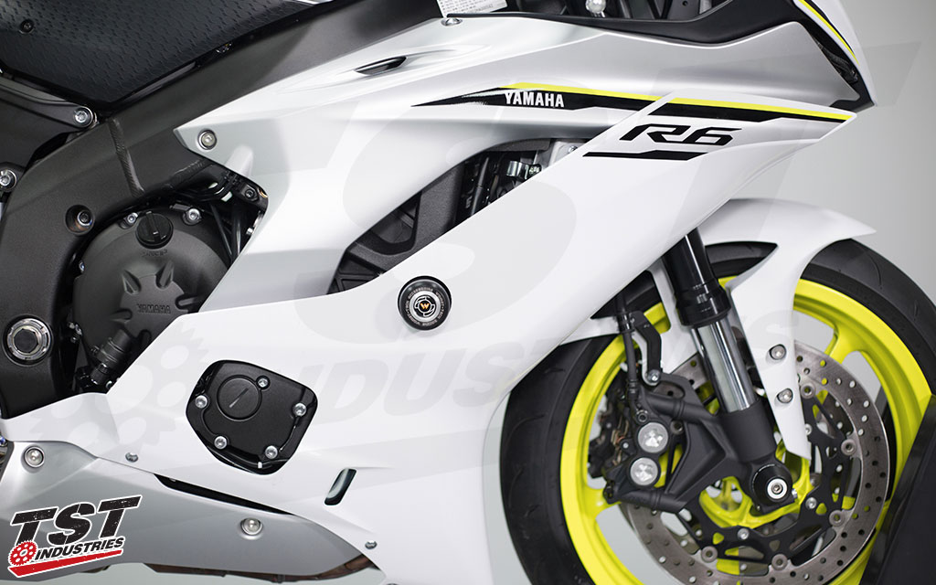 Womet Tech Frame Sliders For The 2017 Yamaha YZF R6