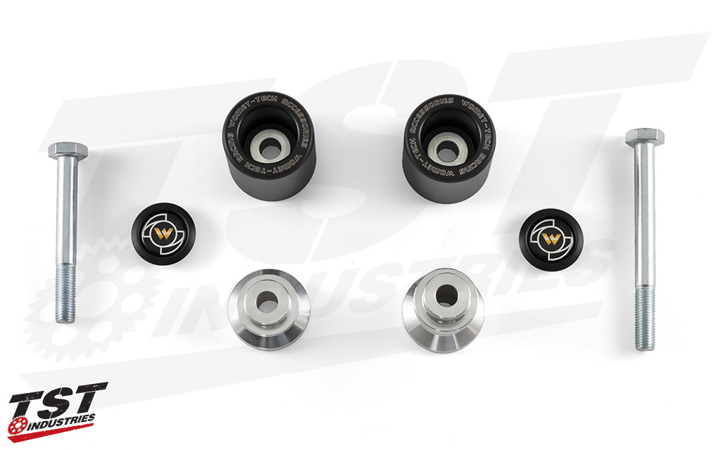 Womet Tech MotoAmerica Style Frame Sliders for the 2006+ Yamaha YZF-R6.