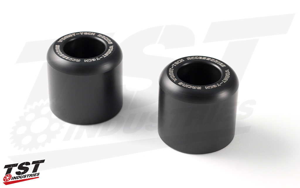 High quality delrin sliders provide genuine crash protection to your 2015+ Yamaha R3.