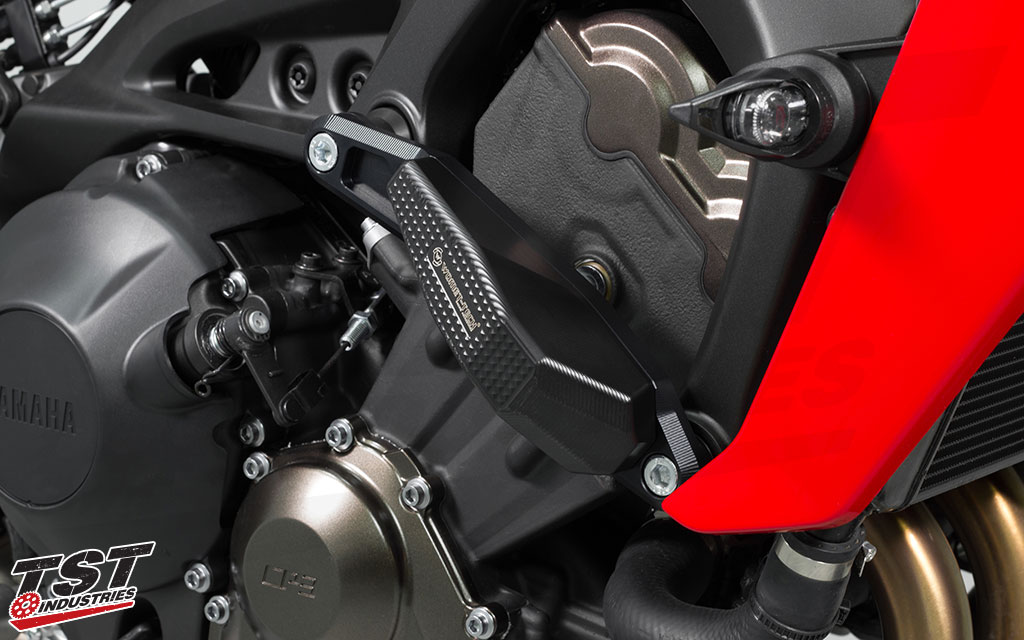 Womet-Tech EVOS Edition Frame Slider Crash Protection for the Yamaha FZ-09 / MT-09 and XSR900.