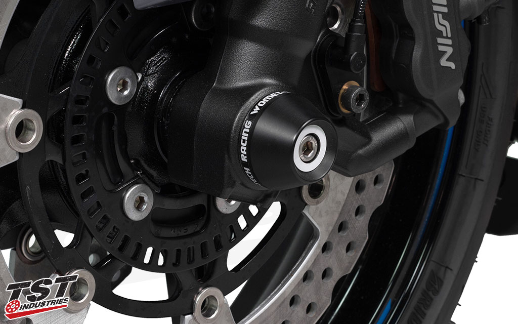 Womet-Tech Fork Slider kit for the 2011+ Kawasaki ZX-10R.