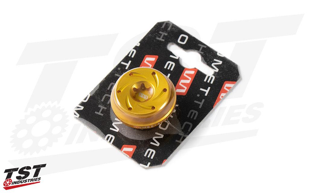Gold anodized Womet-Tech Oil Filler Cap M27x3.