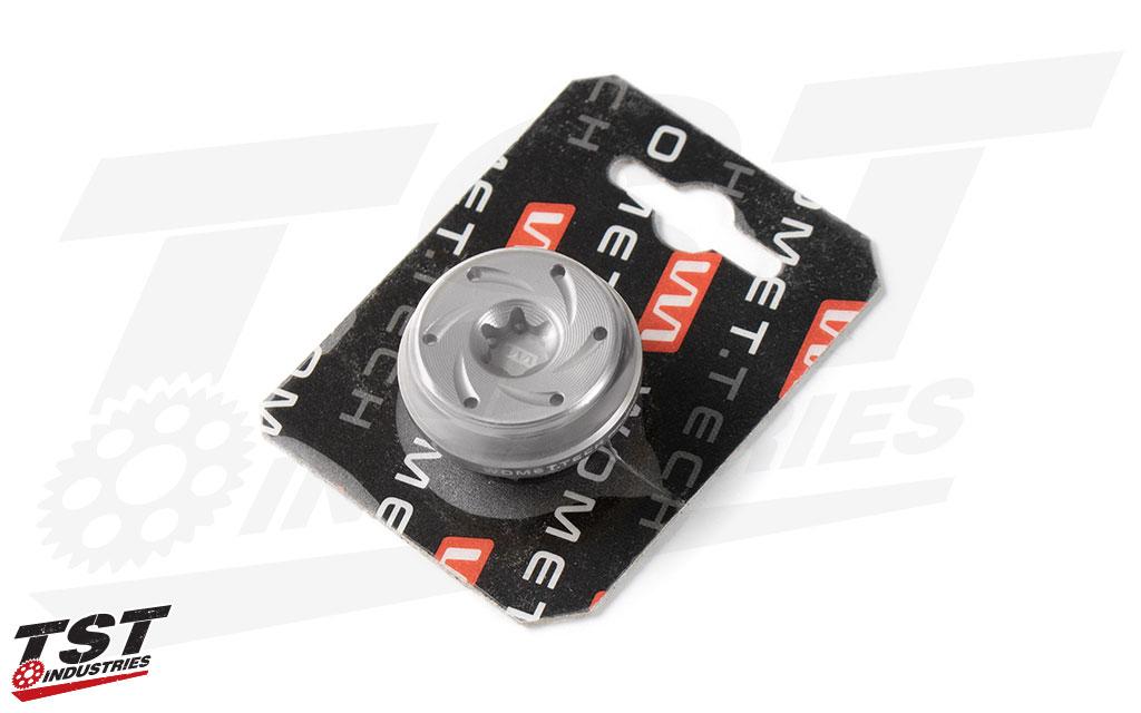 Silver (natural aluminum) Womet-Tech Oil Filler Cap M27x3.
