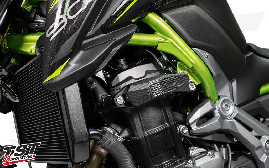 Nero Slider telaio moto per Kawasaki Z900 2016 2017 2018