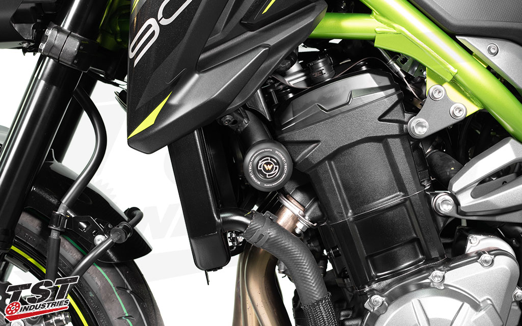 Add valuable component protection to your 2017+ Kawasaki Z900.