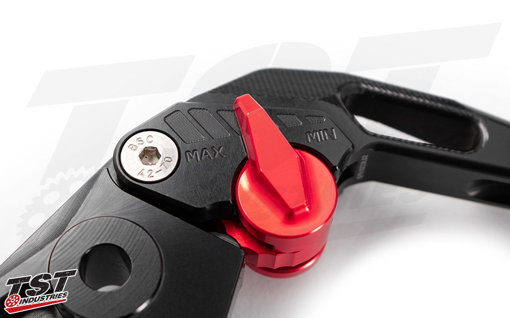 Features six levels of adjustability to enable you to find the perfect lever pull distance.