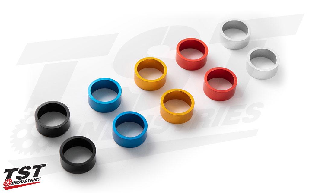 Womet-Tech Bar End Anodized Color Ring Set