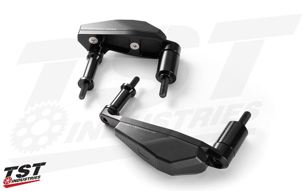 Womet-Tech Evos Frame Sliders for the Yamaha MT-07 / FZ-07.