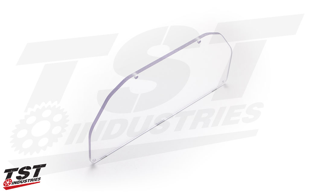Plexiglass display protection prevents scratches or damage from debris.