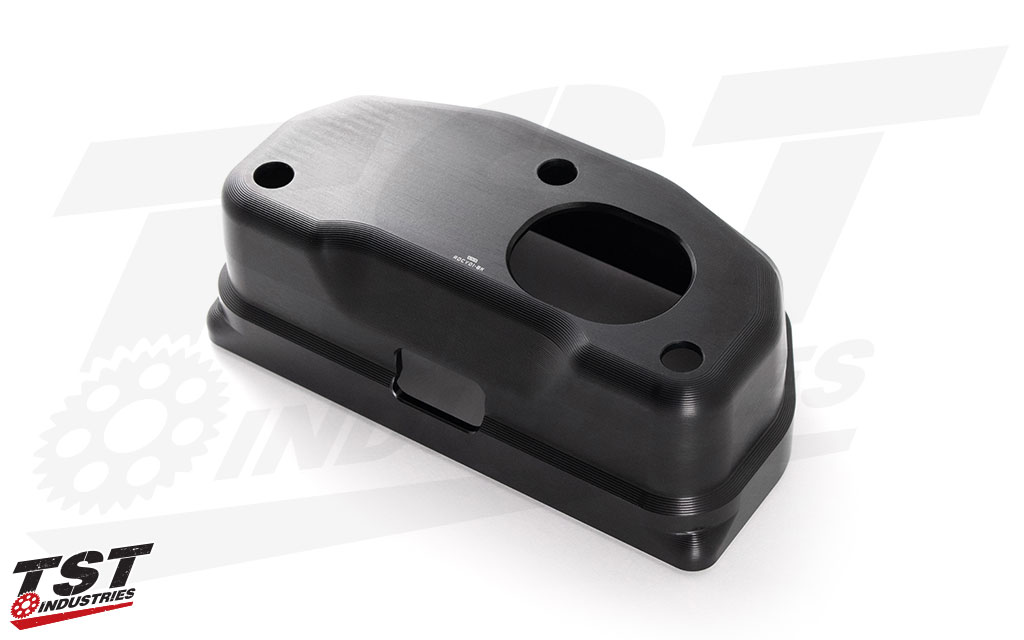 Durable black anodized finish and built-in connection and mounting points.