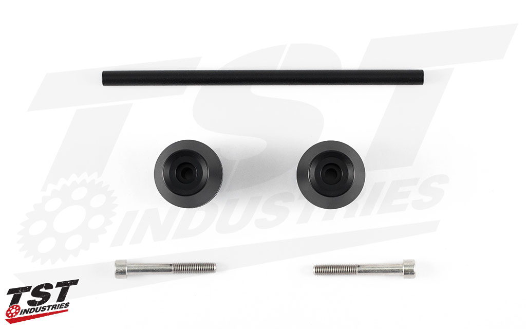 Womet-Tech Frame Sliders for the 2013+ Kawasaki ZX6R.
