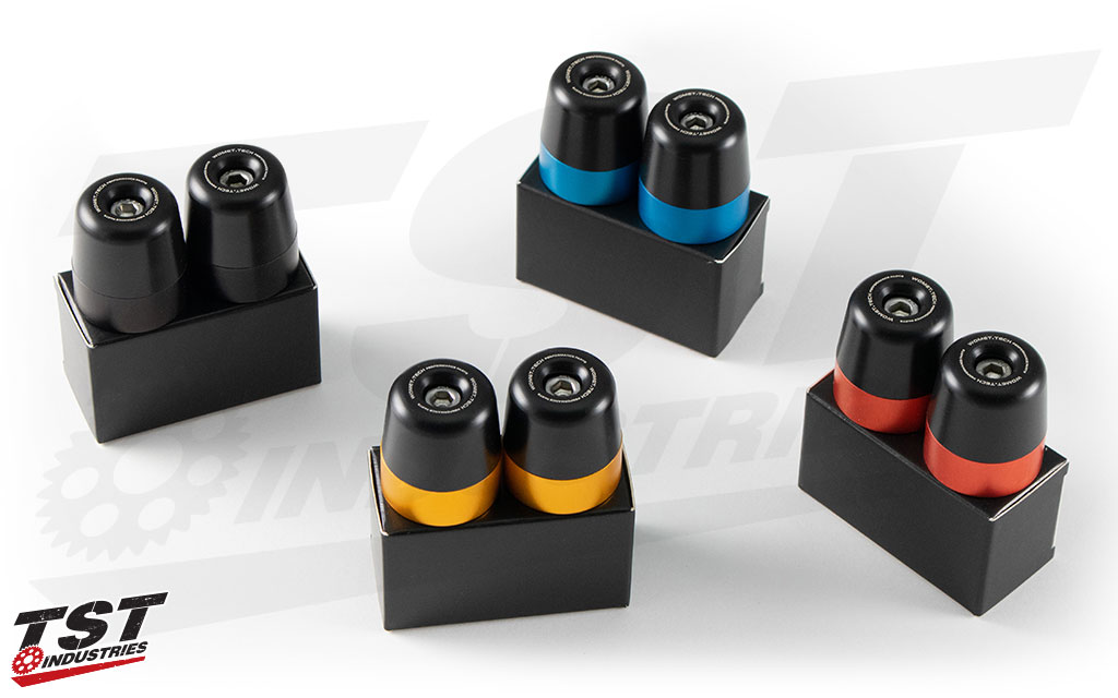 Womet-Tech Bar Ends are available in multiple colors.