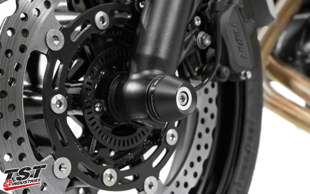 Aids in protecting your front wheel assembly and forks.