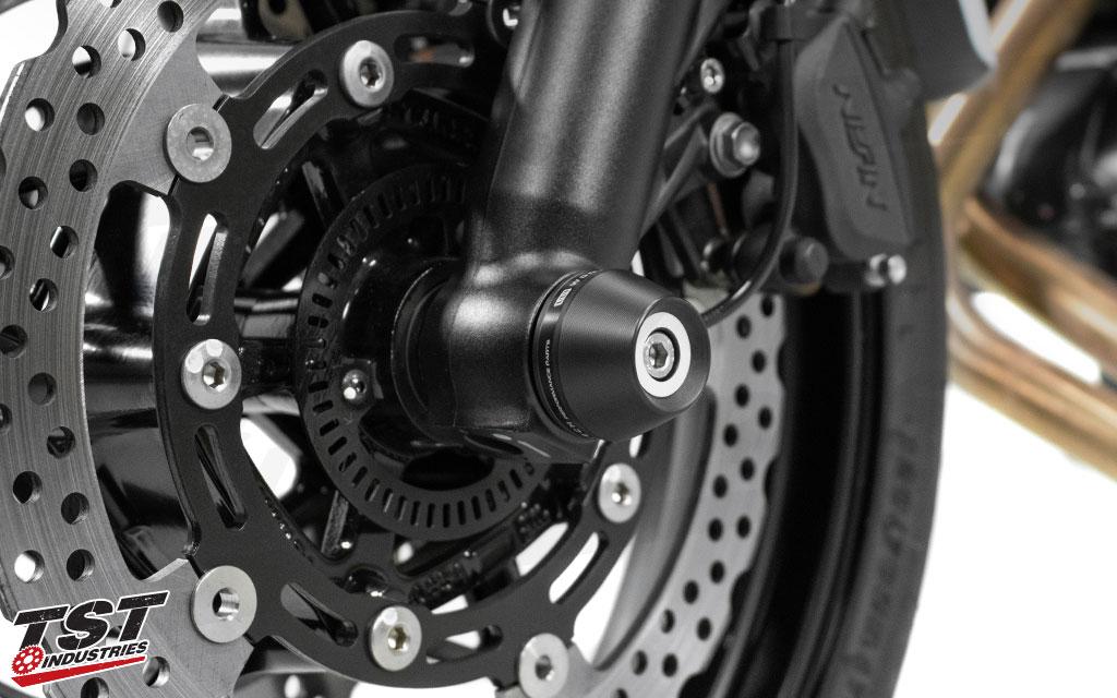 Womet-Tech Fork Slider Crash Protection for Kawasaki Z650 / Ninja 650 2017+
