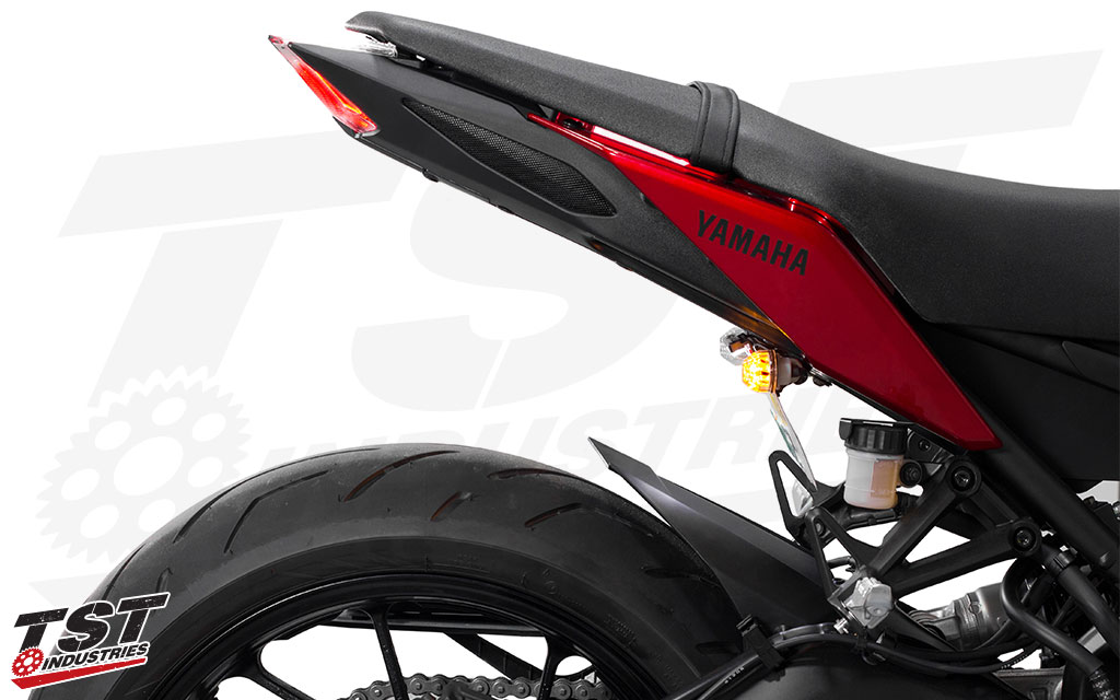 Sleek and low-profile setup keeps your FZ09 tail section clean.