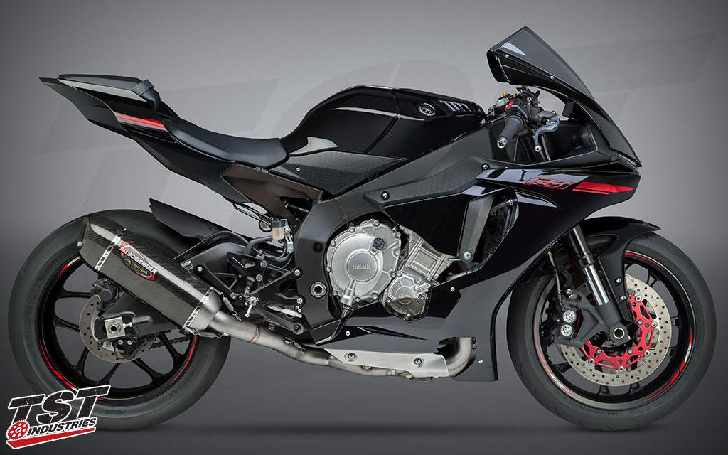 Yoshimura Race Series Alpha Titanium system install on the 2015+ Yamaha YZF-R1.