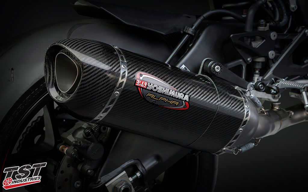 Drop weight and gain better looks, sound, and performance with the Yoshimura Race Series Alpha