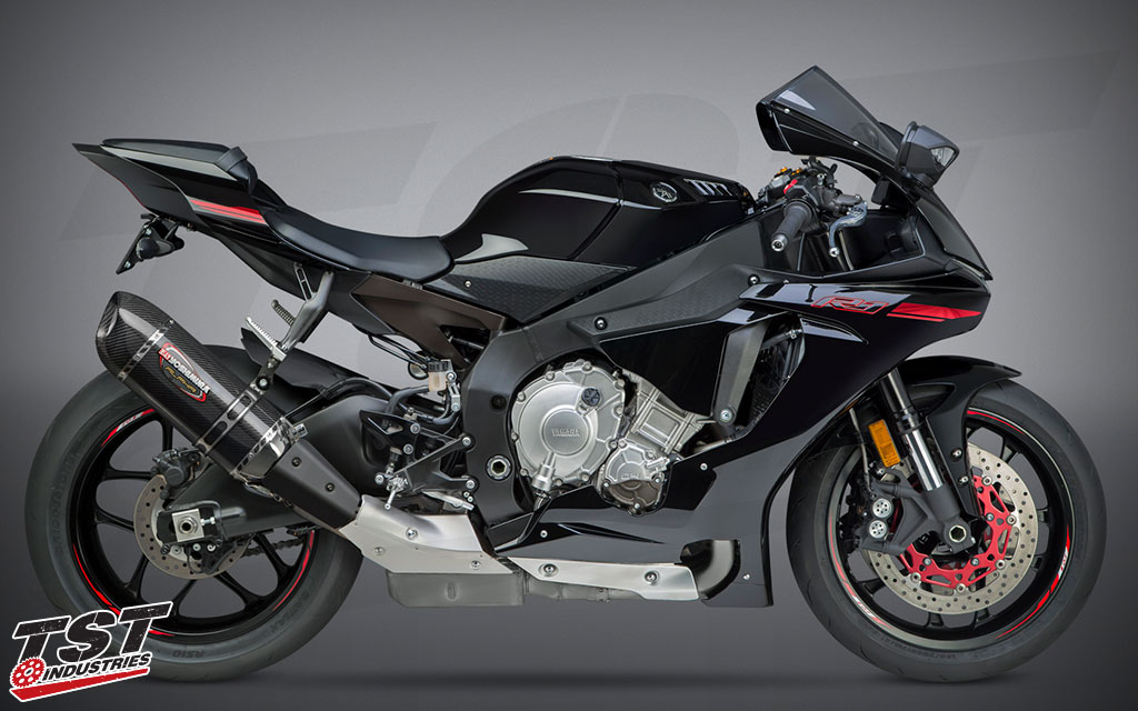 Installed on the 2015+ Yamaha YZF-R1.