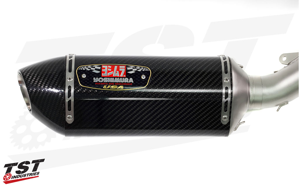 Yoshimura Race Series R-77 Carbon Fiber canister for the Yamaha FZ-09 / MT-09.