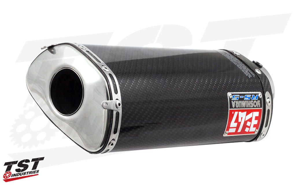 The RS-5 weighs 2.52 lbs less than the Honda stock exhaust.