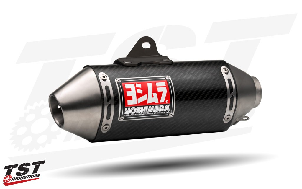 Yoshimura RS-2 Race Mini Series Exhaust System carbon fiber canister.