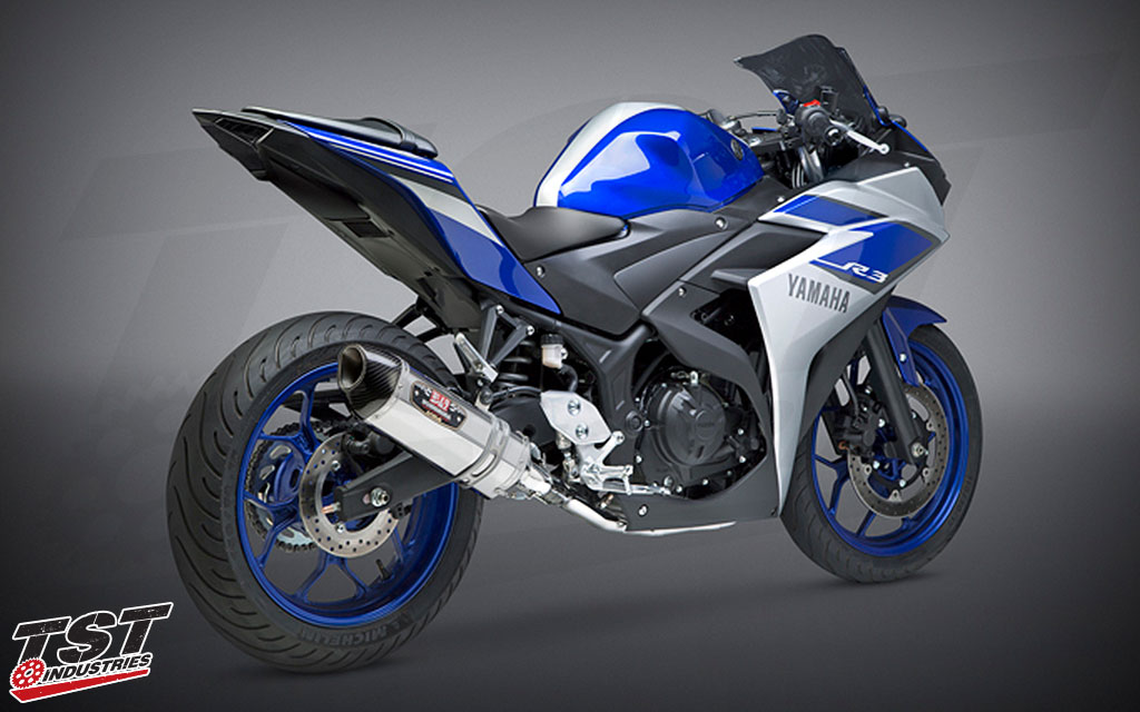 Gain improved performance, sound, and looks with the Yoshimura Race Series R-77 Full Exhaust.