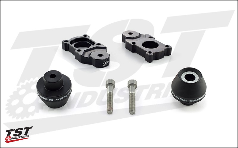 Womet-Tech Axle Block Protector Kit for 2007-2017 Yamaha YZF-R1.
