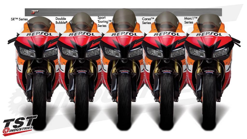 Zero Gravity windscreens on the 2013+ Honda CBR600RR Repsol.