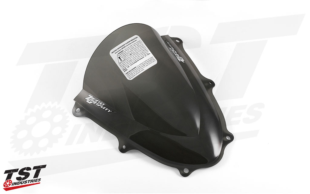 Zero Gravity Double Bubble Windscreen for the 2017+ Suzuki GSX-R100 (Light Smoke version shown).