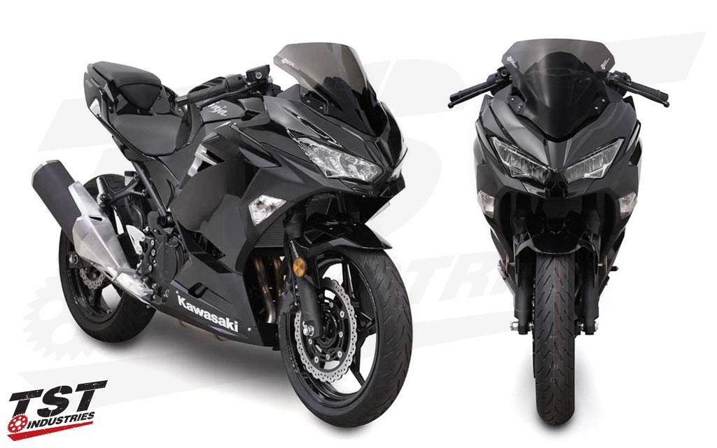 Compare the Marc-1 windscreen profile on the 2018 Kawasaki Ninja 400.