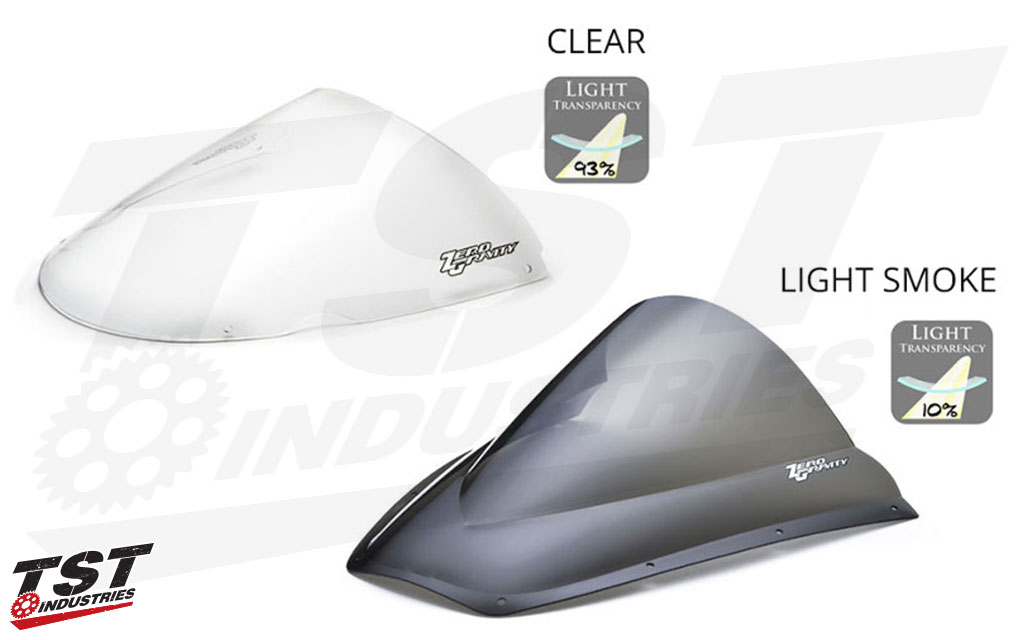 Comparison of Clear and Light Smoke tint options