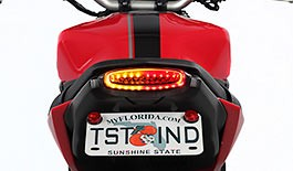 TST Smoked LED Integrated Tail Light for Yamaha FZ-09 / MT-09 2014 - 2016 - Blemished