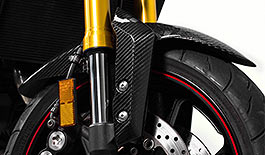 TST Twill Carbon Fiber Front Fender Yamaha FZ-09 / MT-09 2014+ and XSR900 2016+