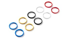 TST ECHO Anodized Color Ring Set