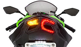 TST LED Programmable Integrated Tail Light for Kawasaki ZX6R 2013-2018