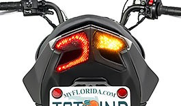 TST LED Integrated Tail Light for 2017+ Kawasaki Z125