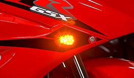 TST LED Front Flushmount Turn Signals for Suzuki GSX-R1000 2017+
