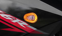 TST HALO-GTR Front LED Flushmount Turn Signals for Yamaha FZ6R