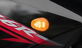 TST GTR Front LED Flushmount Turn Signals for Yamaha FZ6R