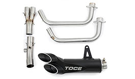 Toce Razor Tip Full Exhaust System for Yamaha YZF-R3 2015+ - Blemished