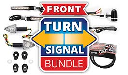 TST LED Front Pod Turn Signal Bundle for Suzuki DR-Z400S / DR-Z400SM