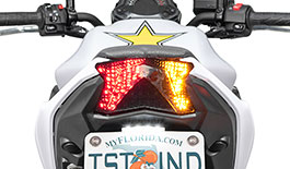 TST Programmable and Sequential LED Integrated Tail Light for Kawasaki Z650 & Ninja 650