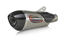 Yoshimura Street Series ALPHA-T Titanium Slip-On Works Finish for Yamaha YZF-R1 2015+