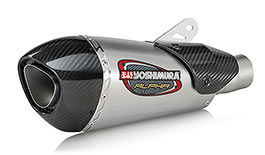 Yoshimura Street Alpha T 3QTR Works Finish Slip-On Exhaust for Kawasaki ZX-6R 2019+