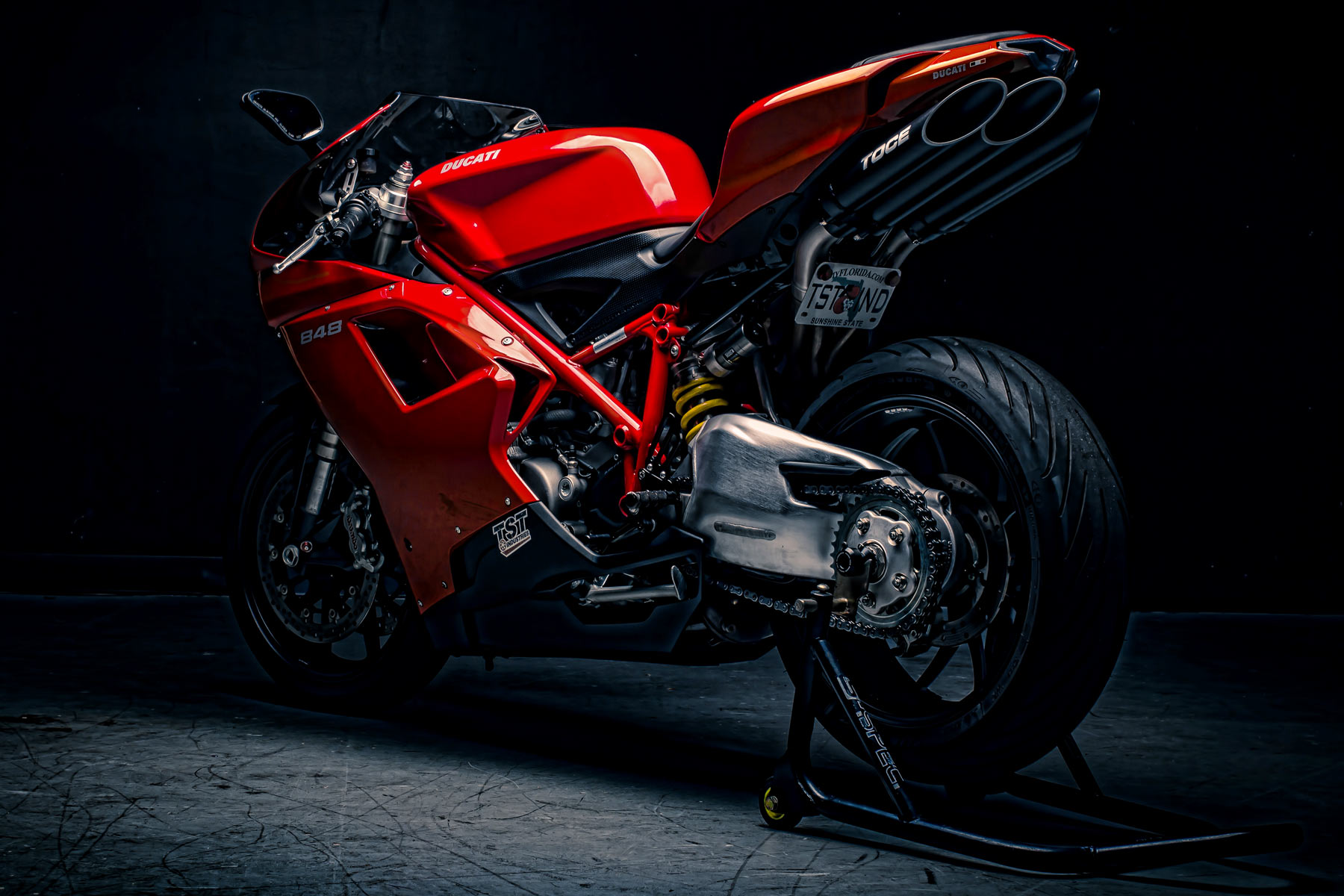 Professional photoshoot of a Ducati 848 performed by TST's own Director of Photography, Marc-Anthony Brown.