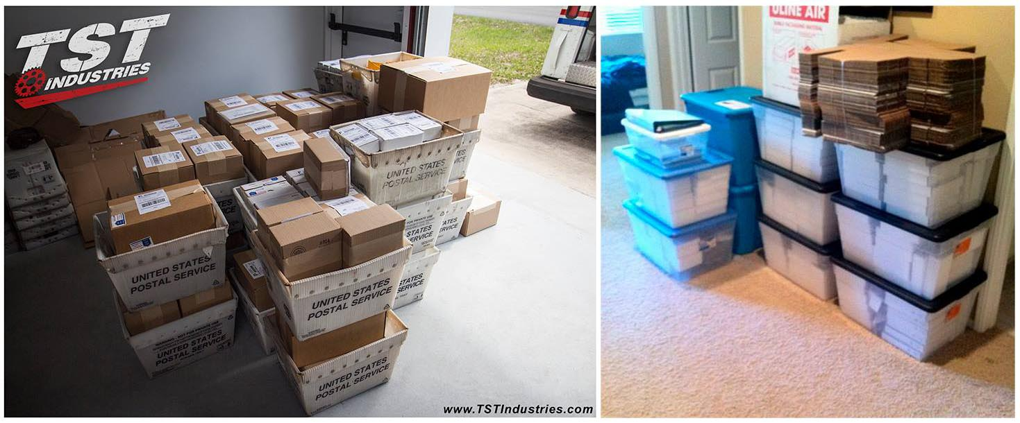Before and after photo of the number of orders TST would receive in 2010 versus 2017.